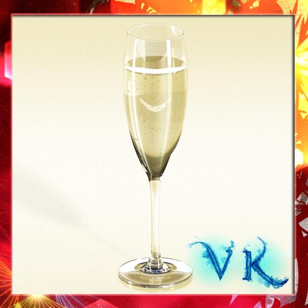 champagne cup 3d model 3ds max fbx obj 143757