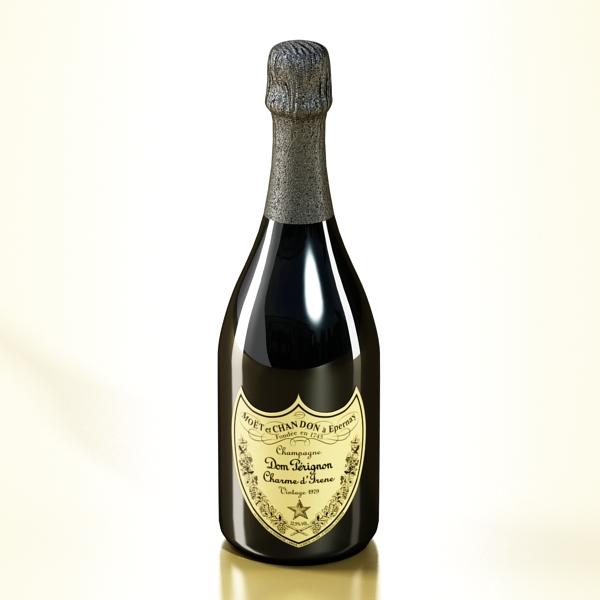 şampan dom pirinç şüşə 3d modeli 3ds max fbx obj 143497