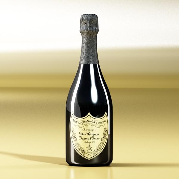 şampan dom pirinç şüşə 3d modeli 3ds max fbx obj 143498