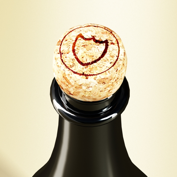 şampan dom pirinç şüşə 3d modeli 3ds max fbx obj 143501