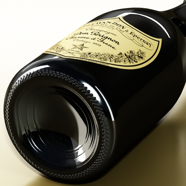 şampan dom pirinç şüşə 3d modeli 3ds max fbx obj 143503