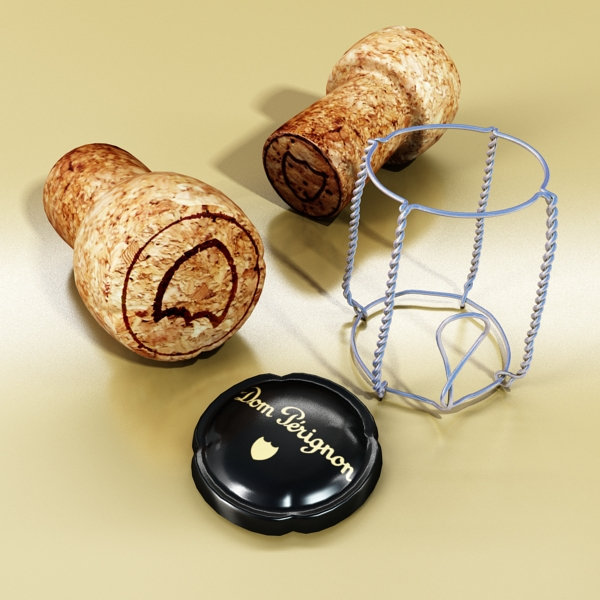 şampan dom pirinç şüşə 3d modeli 3ds max fbx obj 143504