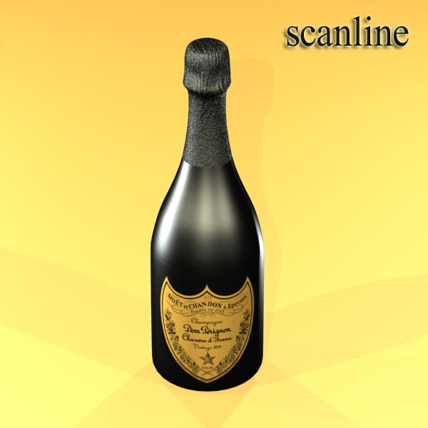 şampan dom pirinç şüşə 3d modeli 3ds max fbx obj 143506