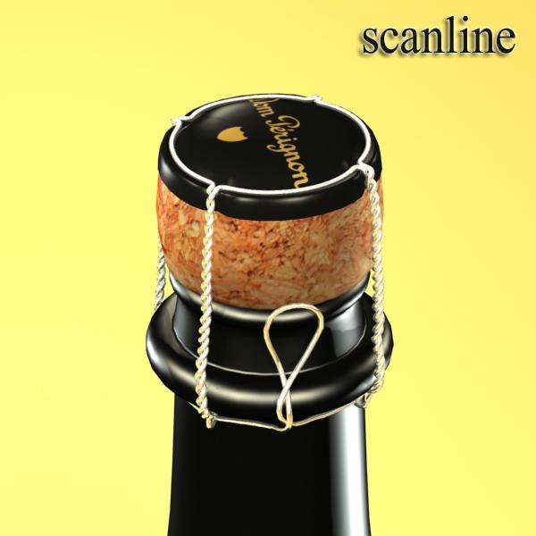 şampan dom pirinç şüşə 3d modeli 3ds max fbx obj 143507