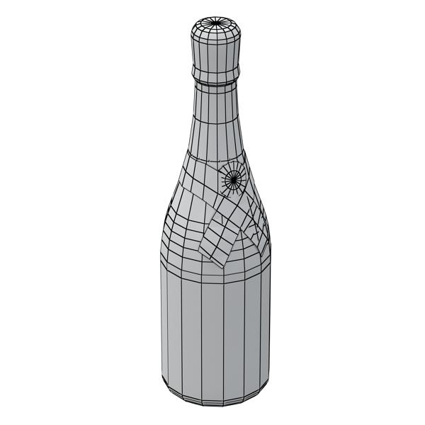 kampavín verður chandon flaska 3d líkan 3ds max fbx obj 143493