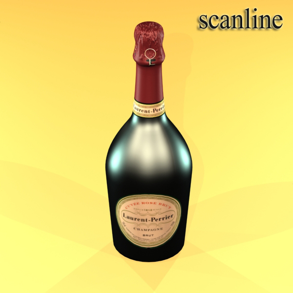 champagne set 2 – bottle, flute, strawberry and wo 3d model 3ds max fbx obj 144500