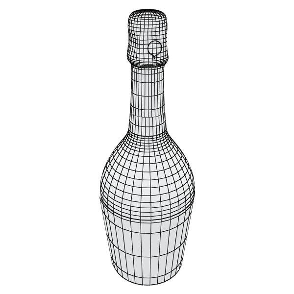 champagne set 2 – bottle, flute, strawberry and wo 3d model 3ds max fbx obj 144503