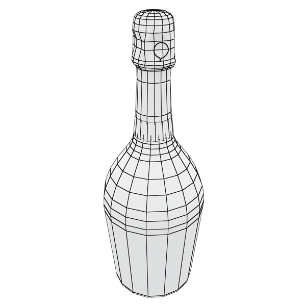 champagne set 2 – bottle, flute, strawberry and wo 3d model 3ds max fbx obj 144504