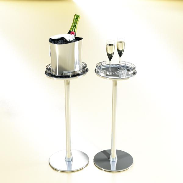 Шампантын багц - лонх, лимбэ болон мөс хувин. 3d загвар 3ds max fbx obj 143843