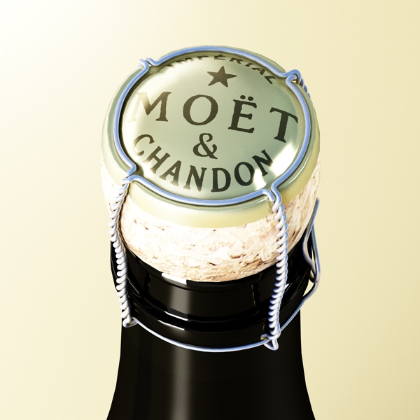 Шампантын багц - лонх, лимбэ болон мөс хувин. 3d загвар 3ds max fbx obj 143856
