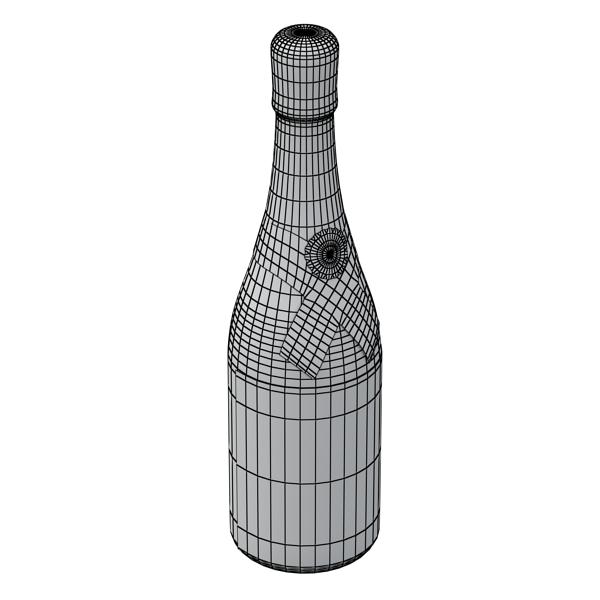 Шампантын багц - лонх, лимбэ болон мөс хувин. 3d загвар 3ds max fbx obj 143865