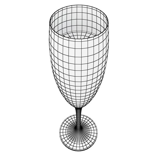 Шампантын багц - лонх, лимбэ болон мөс хувин. 3d загвар 3ds max fbx obj 143875