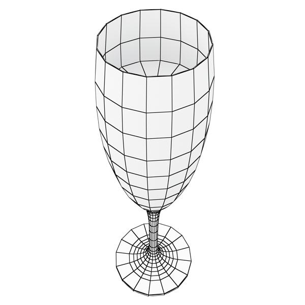 Шампантын багц - лонх, лимбэ болон мөс хувин. 3d загвар 3ds max fbx obj 143876