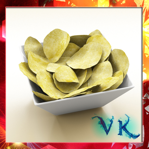 chips bowl 3d model 3ds max fbx obj 147892