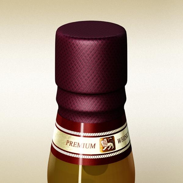 chivas regal bottle, glass and coaster collection 3d model 3ds max fbx obj 139927