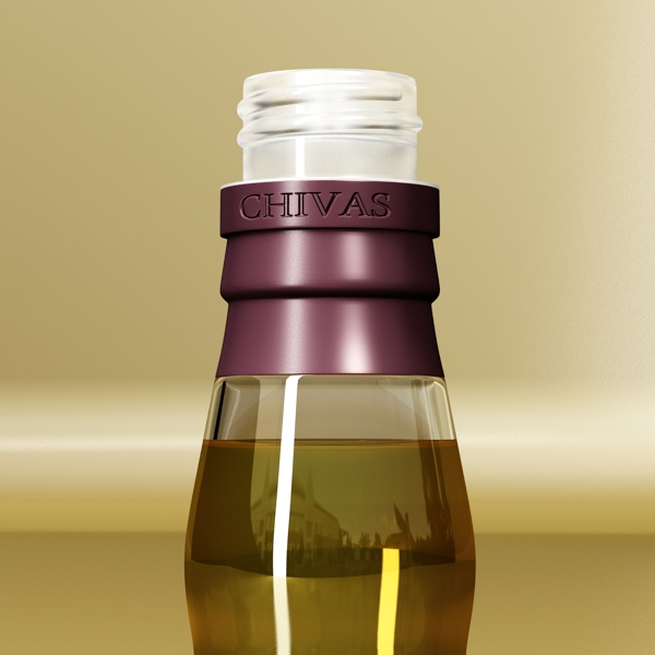 chivas regal bottle, glass and coaster collection 3d model 3ds max fbx obj 139929