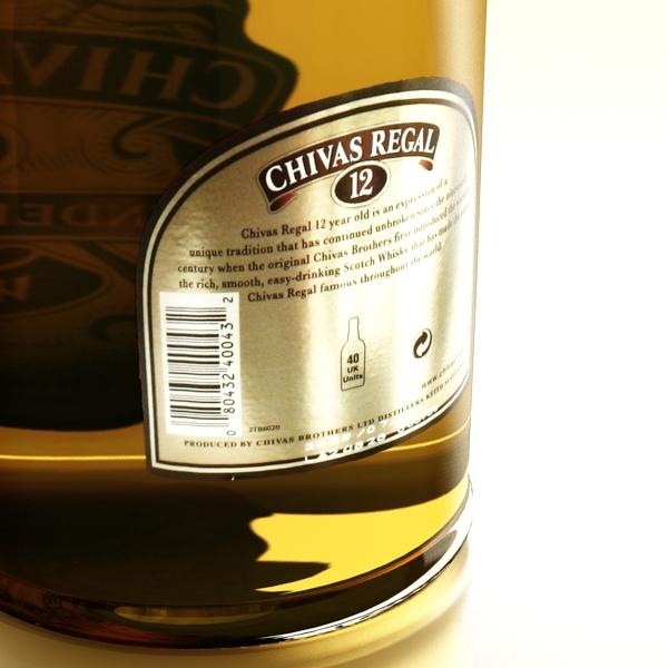 chivas regal bottle, glass and coaster collection 3d model 3ds max fbx obj 139932
