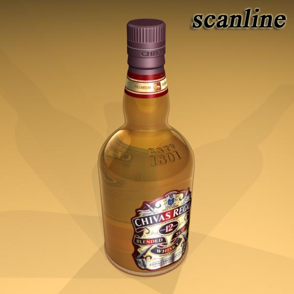 chivas regal bottle, glass and coaster collection 3d model 3ds max fbx obj 139936