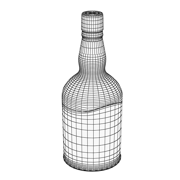 chivas regal bottle, glass and coaster collection 3d model 3ds max fbx obj 139938