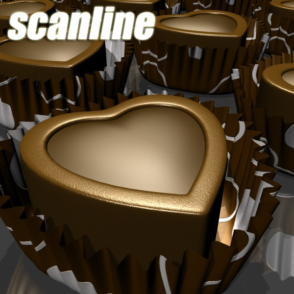 chocolate candy heart shaped 3d model 3ds max fbx obj 132308