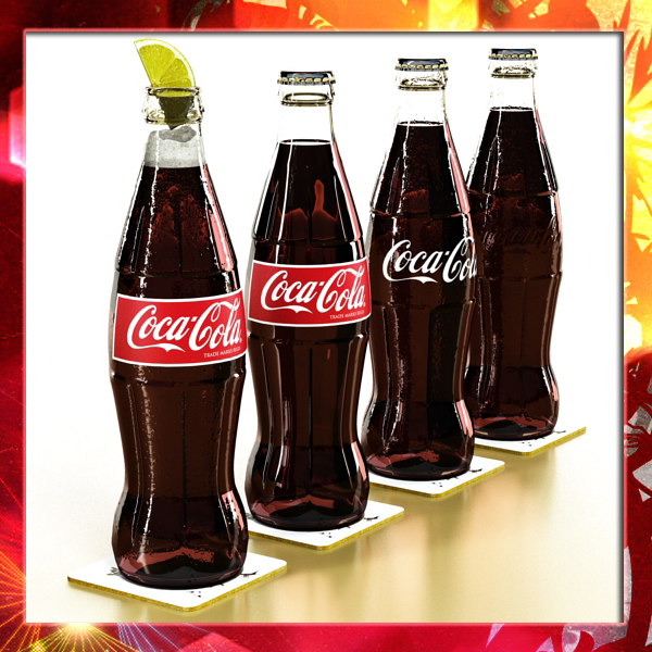 coke – coca cola glass bottle 3d model 3ds max fbx obj 147597