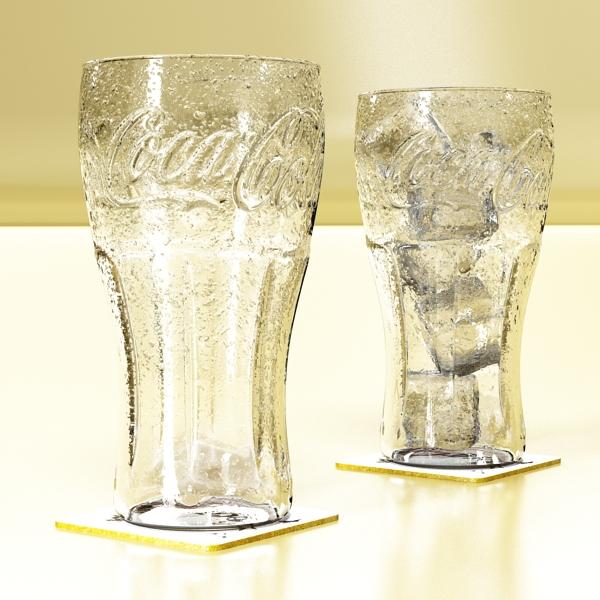 coke coca cola glass, coaster, straw and lemon 3d model 3ds max fbx obj 147720