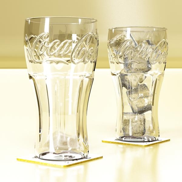 coke coca cola glass, coaster, straw and lemon 3d model 3ds max fbx obj 147721