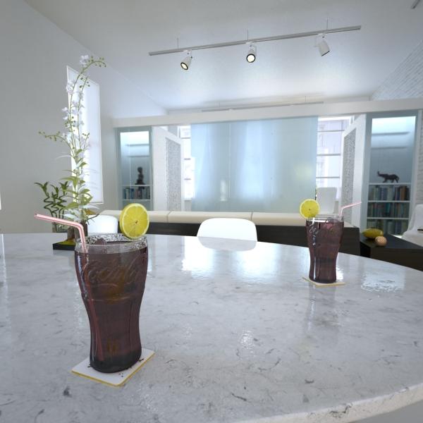 coke coca cola glass, coaster, straw and lemon 3d model 3ds max fbx obj 147723