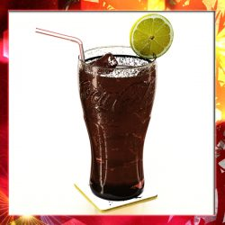 Coke Coca Cola Glass, Coaster, Straw and Lemon ( 226.31KB jpg by VKModels )