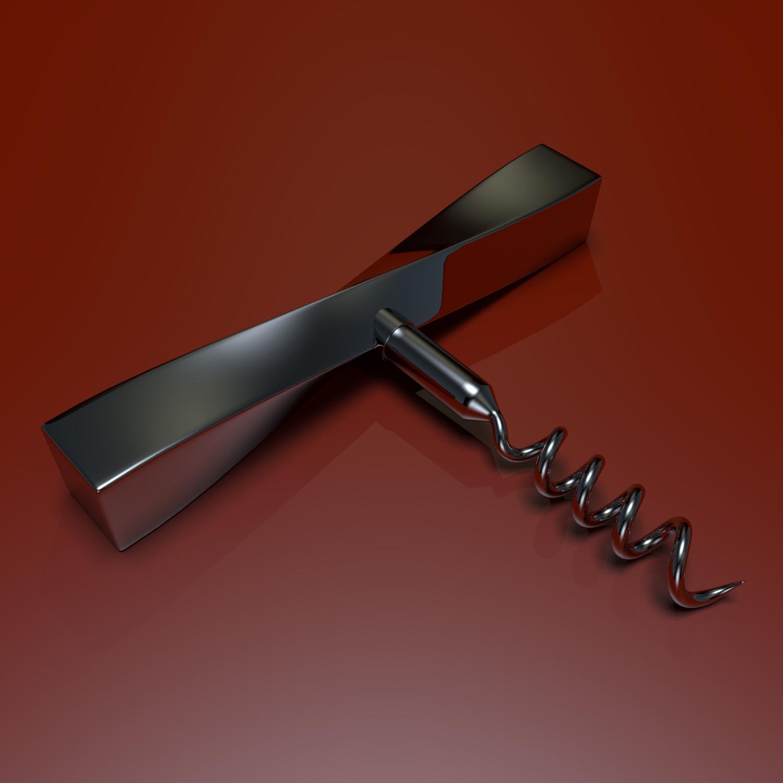 corkscrew 3d model blend obj 119343