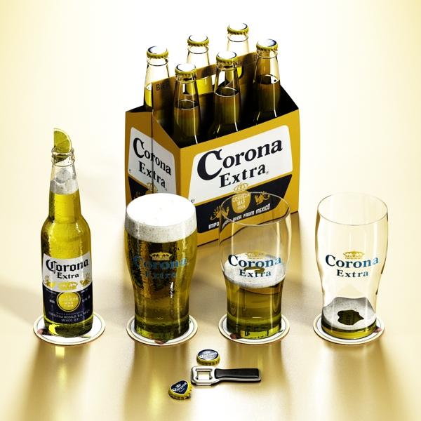 corona bjór safn 3d líkan 3ds max fbx obj 141547