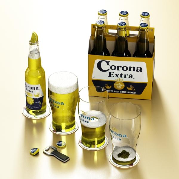 corona bjór safn 3d líkan 3ds max fbx obj 141548
