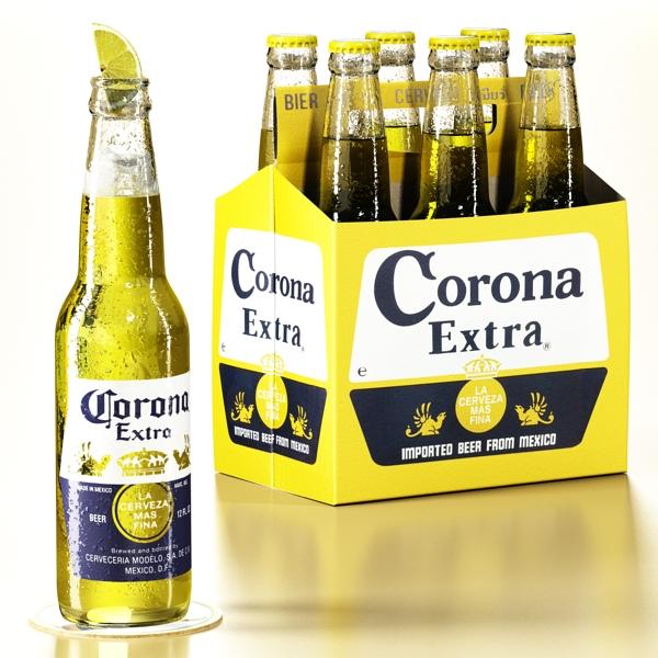 corona bjór safn 3d líkan 3ds max fbx obj 141550