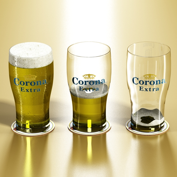 corona pint of beer 3d model 3ds max fbx obj 141201