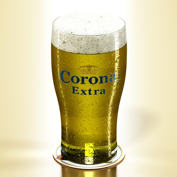 corona pint of beer 3d model 3ds max fbx obj 141203