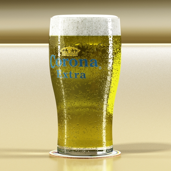 corona pint of beer 3d model 3ds max fbx obj 141205