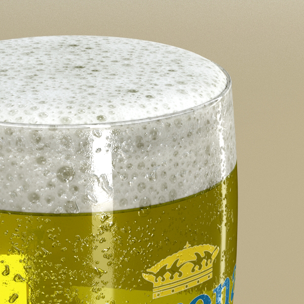 corona pint of beer 3d model 3ds max fbx obj 141206