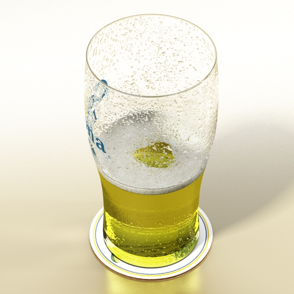 corona pint of beer 3d model 3ds max fbx obj 141207