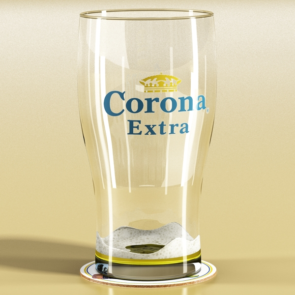 corona pint of beer 3d model 3ds max fbx obj 141210