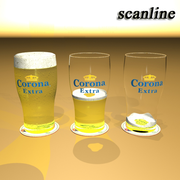 corona pint of beer 3d model 3ds max fbx obj 141212
