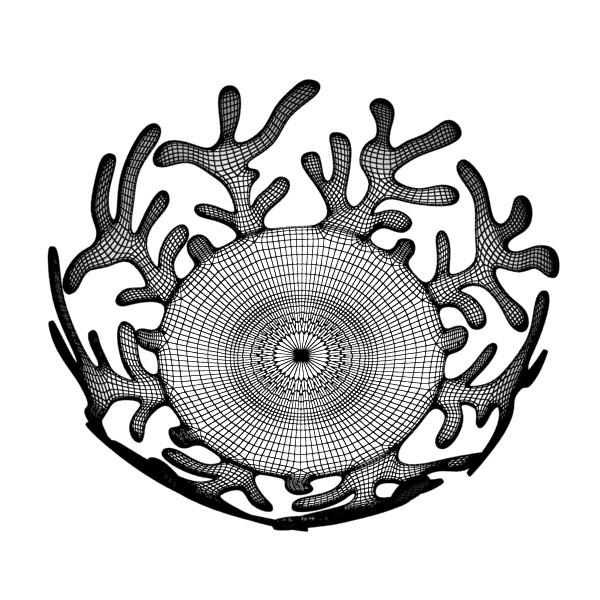 decorative bowl 04 3d model 3ds max fbx obj 132728