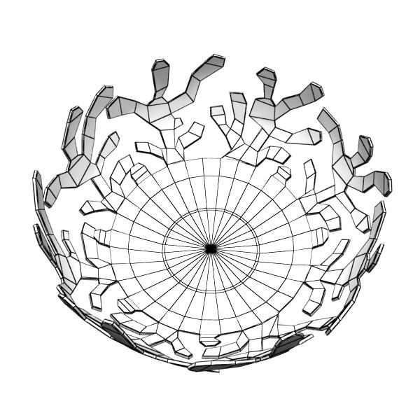 decorative bowl 04 3d model 3ds max fbx obj 132729
