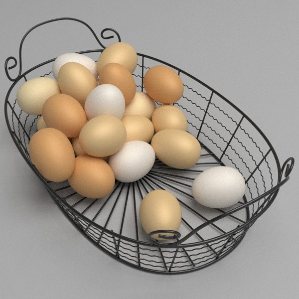 egg basket 3d model 3ds fbx skp obj 115226