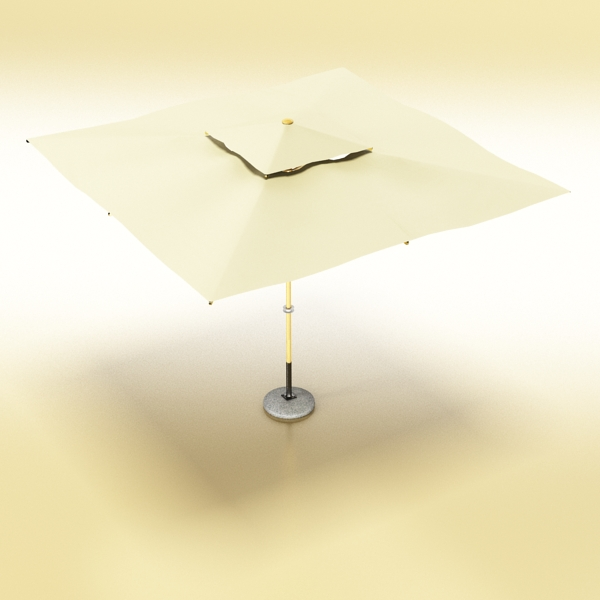 exterior bar table, chair, and parasol 3d model 3ds max obj 148327