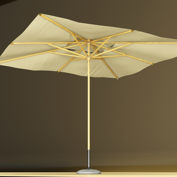 exterior bar table, chair, and parasol 3d model 3ds max obj 148330