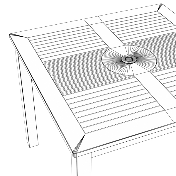 exterior bar table, chair, and parasol 3d model 3ds max obj 148352