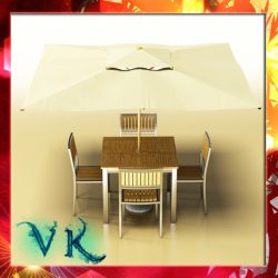 Exterior Bar Table, Chair, and Parasol ( 264.3KB jpg by VKModels )