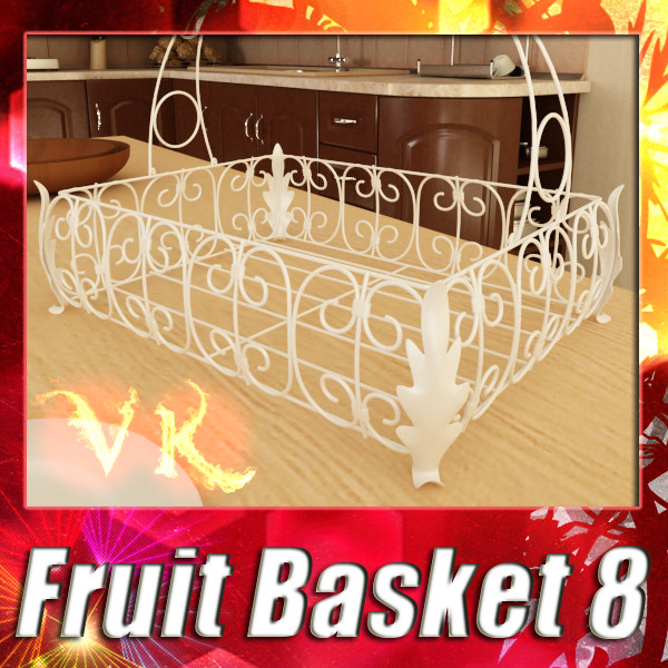 fancy metal fruit basket 08 3d model max fbx obj 132906