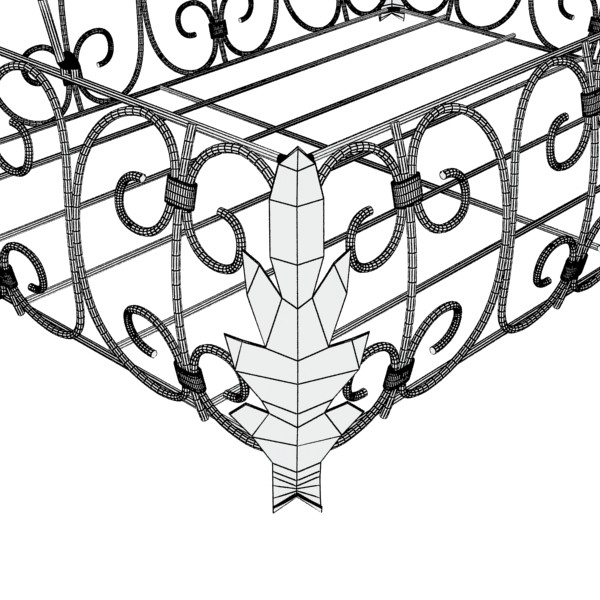 fancy metal fruit basket 08 3d model max fbx obj 132912