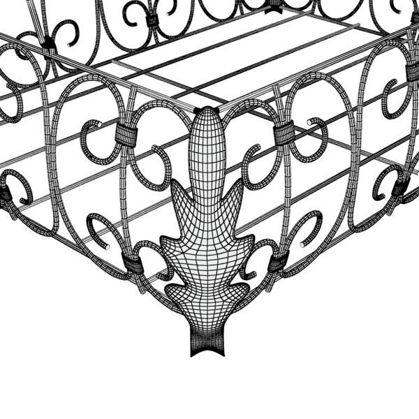 fancy metal fruit basket 08 3d model max fbx obj 132913